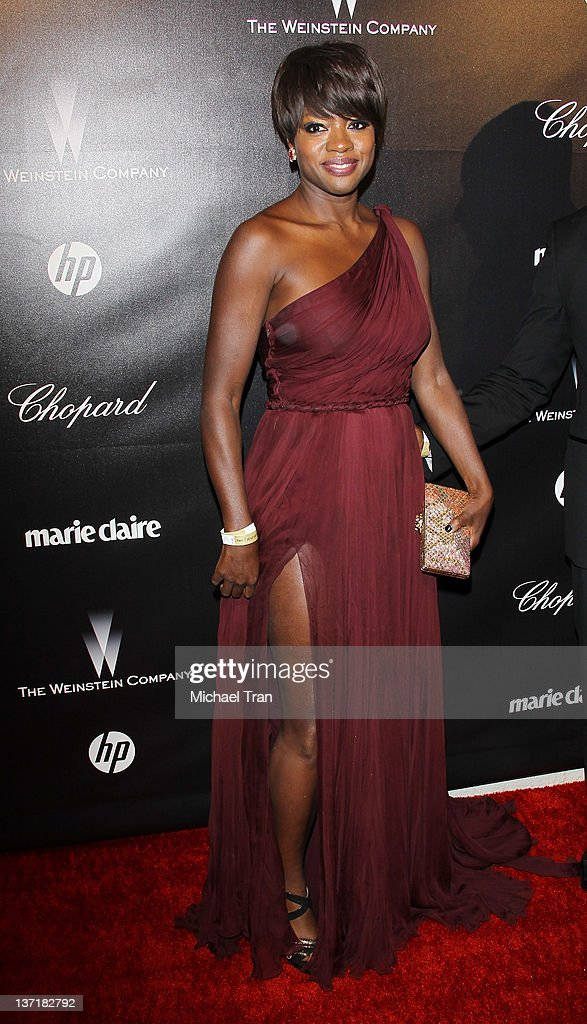Viola Davis arrives at the Weinstein Company's 2012 Golden Globe afterparty held at Bar 210 at The Beverly Hilton hotel on January 15 2012 in Beverly...