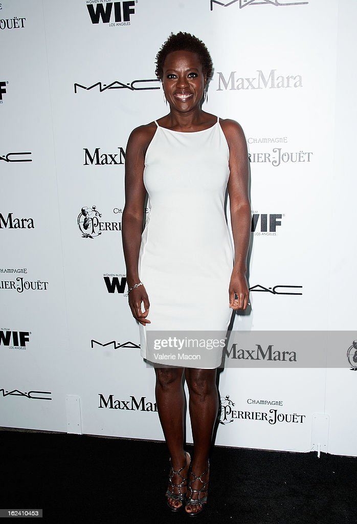 <a gi-track='captionPersonalityLinkClicked' href=/galleries/search?phrase=Viola+Davis&family=editorial&specificpeople=653789 ng-click='$event.stopPropagation()'>Viola Davis</a> attends the 6th Annual Women In Film Pre-Oscar Party hosted by Perrier Jouet, MAC Cosmetics and MaxMara at Fig & Olive Melrose Place on February 22, 2013 in West Hollywood, California.