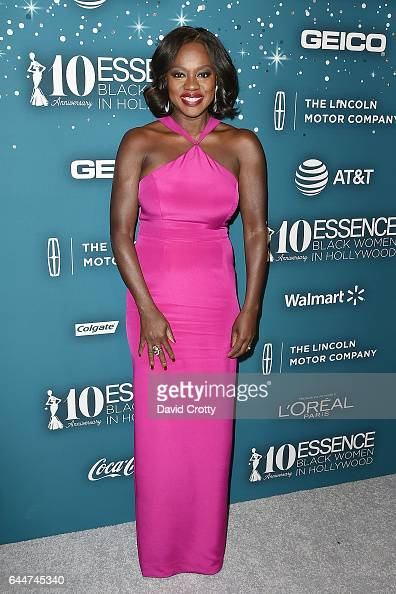 Viola Davis attends the Essence 10th Annual Black Women In Hollywood Awards Gala at the Beverly Wilshire Four Seasons Hotel on February 23 2017 in...