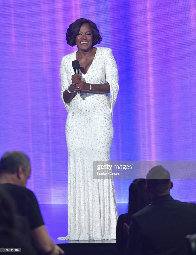 Viola Davis onstage during the 2017 American Music Awards at Microsoft Theater on November 19, 2017 in Los Angeles, California.