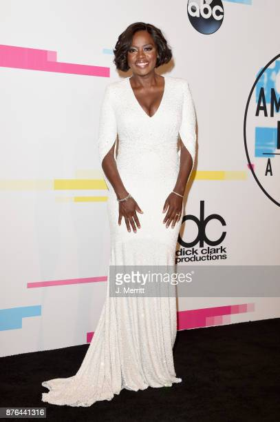 Viola Davis poses in the press room during 2017 American Music Awards at Microsoft Theater on November 19 2017 in Los Angeles California