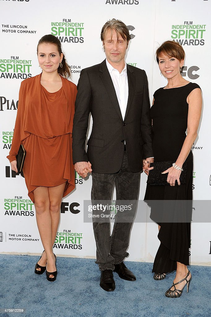 Viola Mikkelsen, actor Mads Mikkelsen and actress Hanne Jacobsen attend the 2014 Film Independent Spirit Awards at Santa Monica Beach on March 1, 2014 in Santa Monica, California.