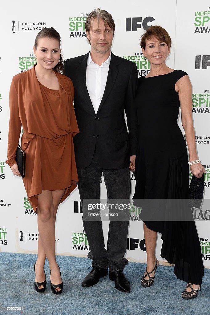 Viola Mikkelsen, actor Mads Mikkelsen and actress Hanne Jacobsen attend the 2014 Film Independent Spirit Awards at Santa Monica Beach on March 1, 2014 in Santa Monica, California.