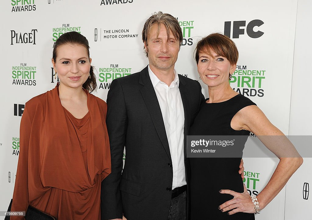 Viola Mikkelsen, actor Mads Mikkelsen and Hanne Jacobsen attend the 2014 Film Independent Spirit Awards at Santa Monica Beach on March 1, 2014 in Santa Monica, California.