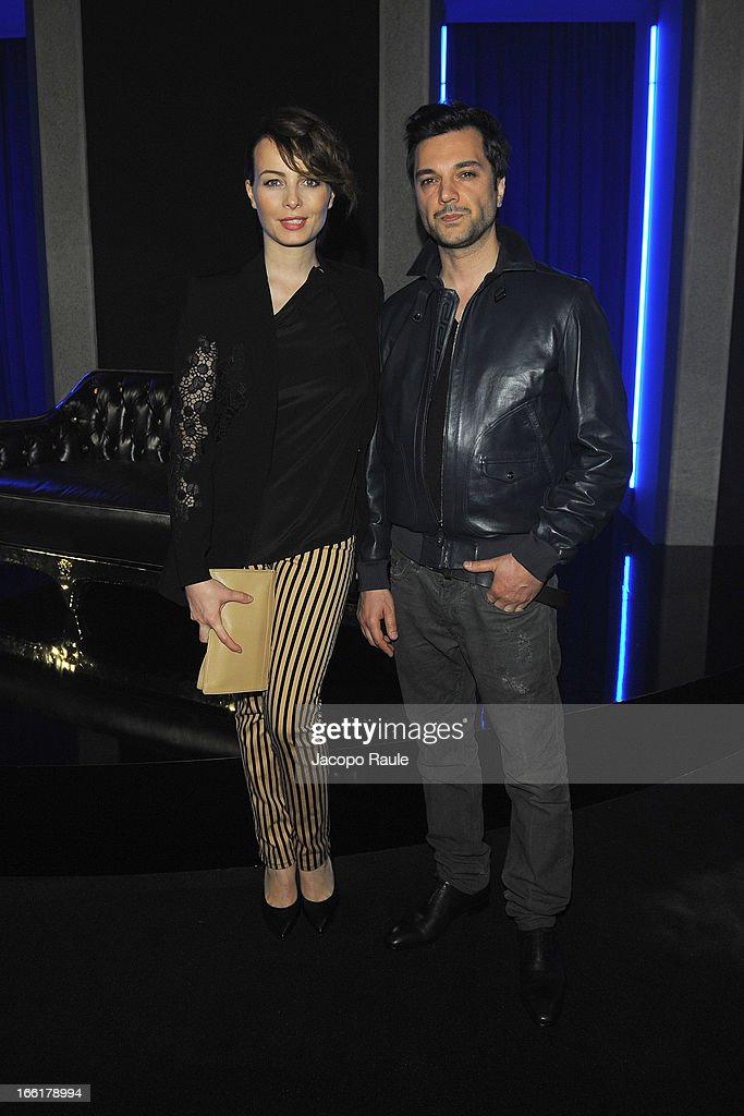 Violante Placido and Massimiliano D'Epiro attend The Haas Bothers For Versace Home during 2013 Milan Design Week on April 9, 2013 in Milan, Italy.