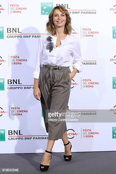 Violante Placido attends a photocall for '7 Minuti' during the 11th Rome Film Festival at Auditorium Parco Della Musica on October 21 2016 in Rome...