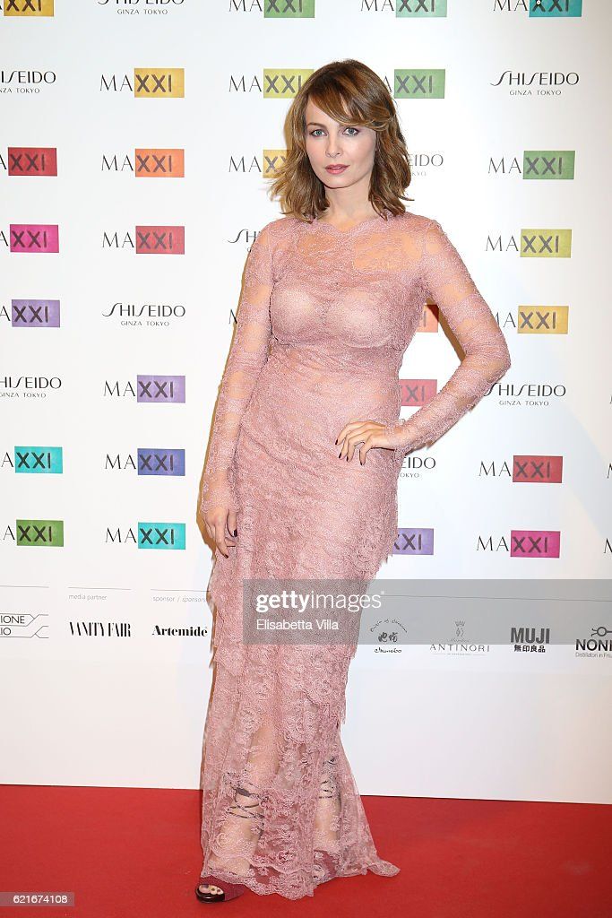 Violante Placido attends a photocall for the MAXXI Acquisition Gala Dinner 2016 at Maxxi Museum on November 7, 2016 in Rome, Italy.