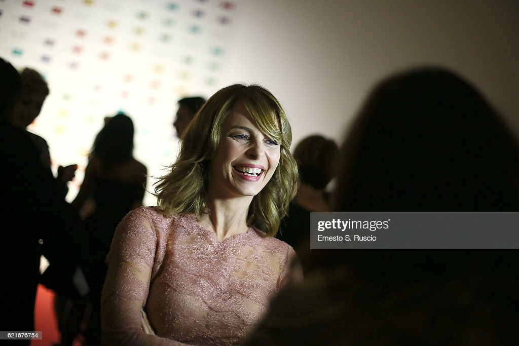 Violante Placido attends a welcome cocktail and 'The Japanese House' exhibition preview for the MAXXI Acquisition Gala Dinner 2016 at Maxxi Museum on November 7, 2016 in Rome, Italy. Exclusive Coverage.