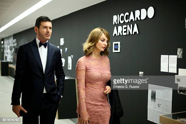 Violante Placido attends a welcome cocktail and 'The Japanese House' exhibition preview for the MAXXI Acquisition Gala Dinner 2016 at Maxxi Museum on...
