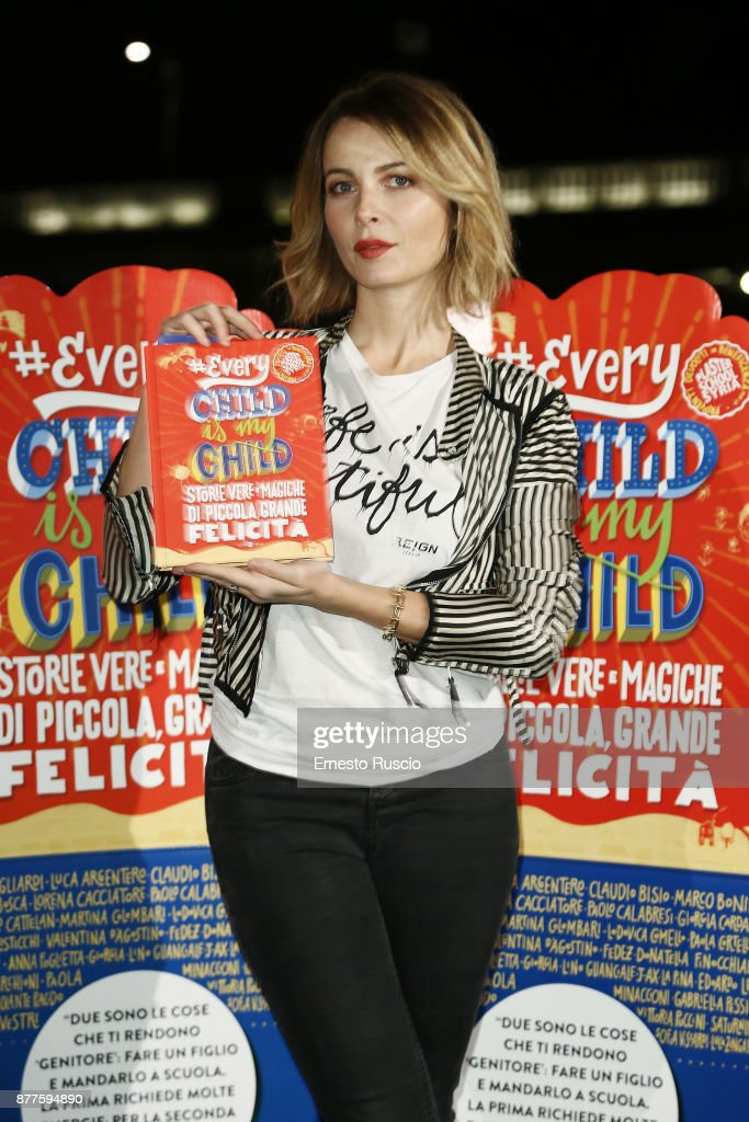 Violante Placido attends #EVERYCHILDISMYCHILD book presentation on November 22, 2017 in Rome, Italy.