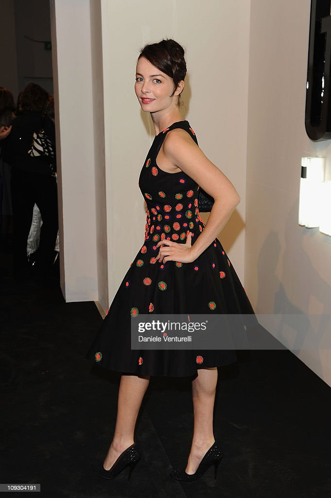 Violante Placido attends the Salvatore Ferragamo 'Greta Garbo' exhibition at the Triennale Museum during Milan Fashion Week Womenswear A/W 2010 on February 27, 2010 in Milan, Italy.