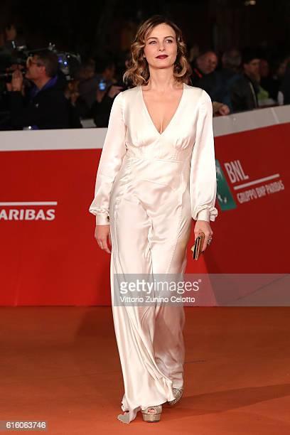 Violante Placido walks a red carpet for '7 Minuti' during the 11th Rome Film Festival at Auditorium Parco Della Musica on October 21 2016 in Rome...