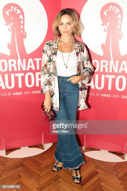 Violante Placido walks the red carpet ahead of the 'Il Contagio' screening during the 74th Venice Film Festival at Sala Perla on September 1 2017 in...