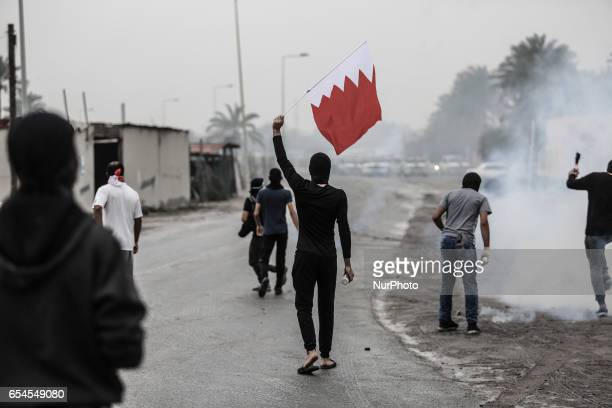 Violent clashes broke out between demonstrators and the forces of the regime on 17 March 2017 in the Sanabis west of the capital Manama in Baharain...