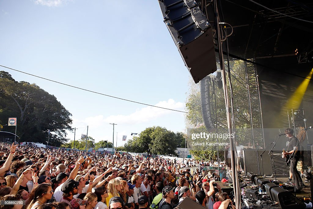 Violent Soho perform live on stage at St Jerome's Laneway Festival on February 7, 2016 in Sydney, Australia.