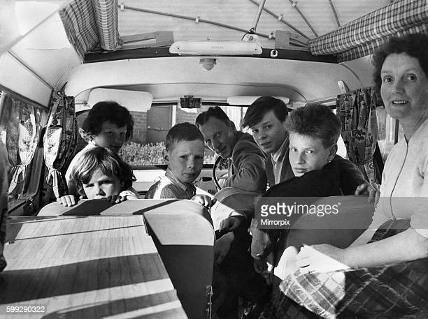 Violet Astley the mother and Reveille's comp winner sit comfortably inside the Dormbile caravan they chose as their prize The family who have never...