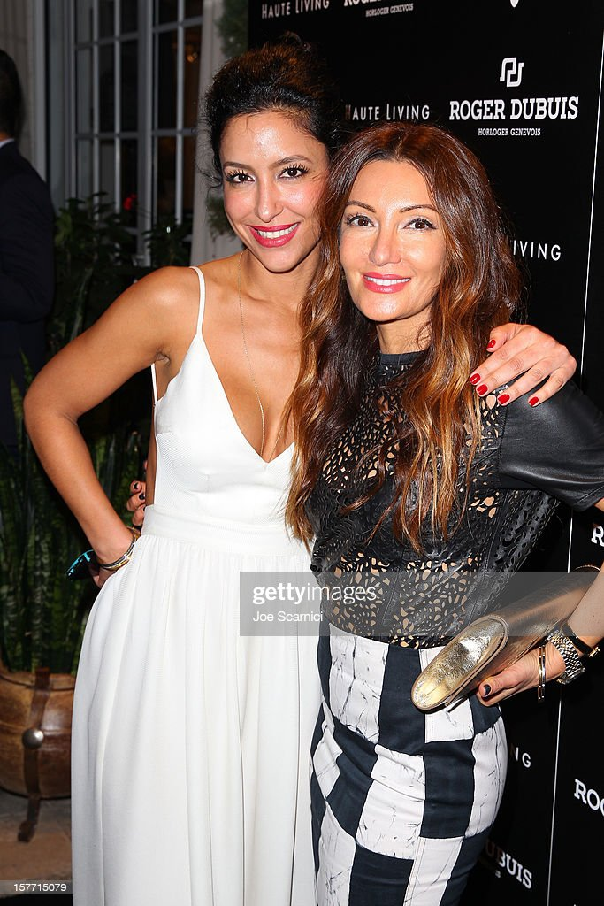 Violet Camacho and Mojgan McClusky attend the Haute Living and Roger Dubuis dinner hosted By Daphne Guinness at Azur on December 5, 2012 in Miami Beach, Florida.