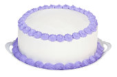 Violet decorated party cake to personalize