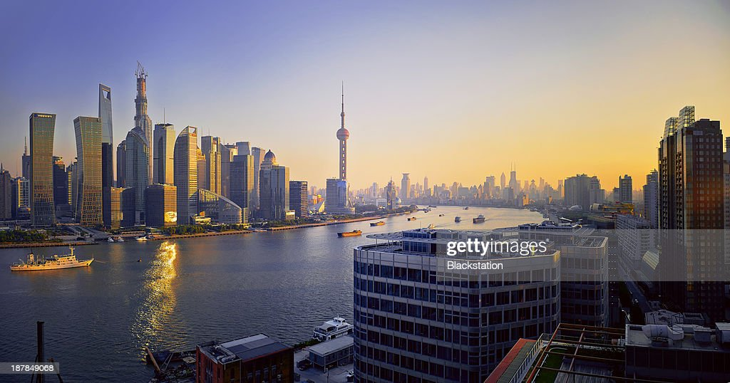 violet gold city : Stock Photo
