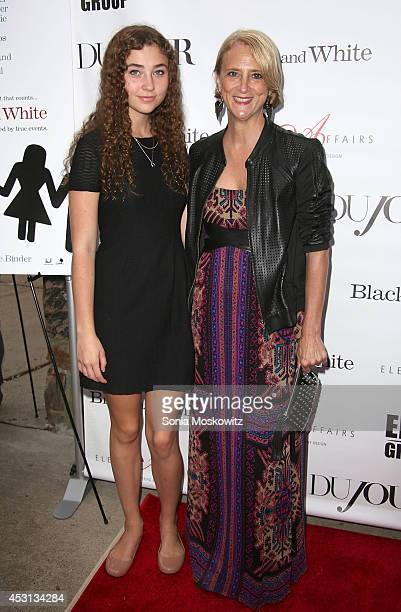 Violet Lepore and Nanette Lepore attend the 'Black And White' screening at UA East Hampton Theater on August 3 2014 in East Hampton New York