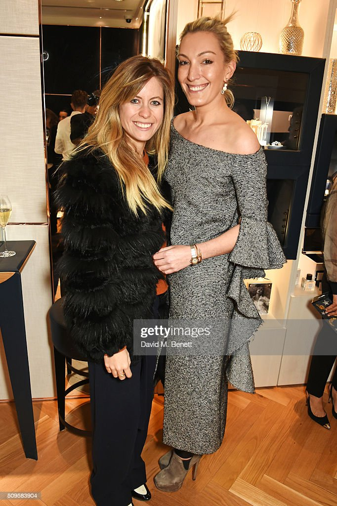 Violet Vestey (L) and APM ambassador Olivia Buckingham attend the APM Monaco flagship store opening on South Molton Street on February 11, 2016 in London, England.