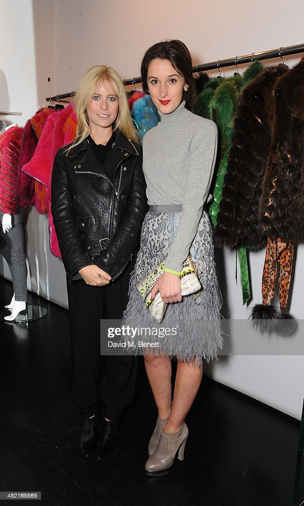 Violet Vestey and Rosanna Falconer attend A Winter's Evening With Hockley hosted by Alice Naylor-Leyland and Katie Readman to preview the Autumn/Winter 2013-2014 collection at the Hockley Conduit Street store on November 26, 2013 in London, England.