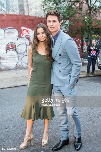 Violetta Komyshan and Actor Ansel Elgort attend TriStar Pictures The Cinema Society and Avion's screening of 'Baby Driver' at The Metrograph on June...