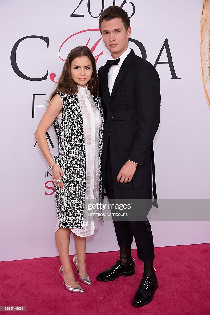 Violetta Komyshan (L) and Ansel Elgort attend the 2016 CFDA Fashion Awards at the Hammerstein Ballroom on June 6, 2016 in New York City.
