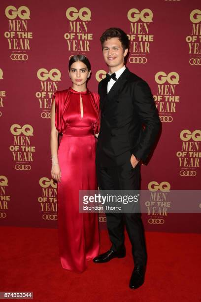 Violetta Komyshan and Ansel Elgort attend the GQ Men Of The Year Awards at The Star on November 15 2017 in Sydney Australia