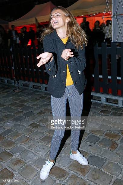 Violette d'Urso attends 'La Traviata' Opera en Plein Air produced by Benjamin Patou 'Moma Group' Held at Hotel Des Invalides on September 8 2015 in...