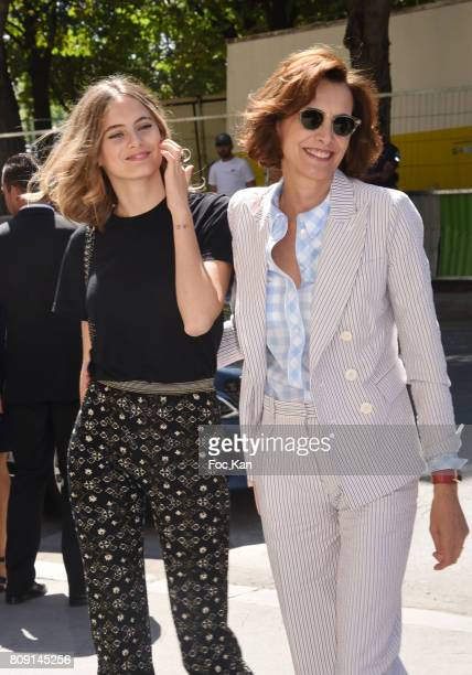 Violette Marie d'Urso and her mother Ines de la Fressange attends the Chanel Haute Couture Fall/Winter 20172018 show as part of Paris Fashion Week on...