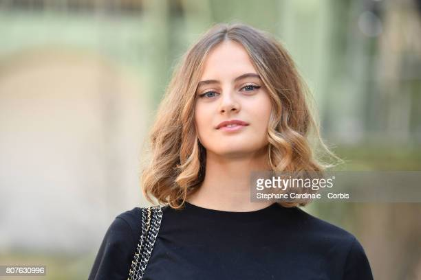 Violette Marie d'Urso attends the Chanel Haute Couture Fall/Winter 20172018 show as part of Haute Couture Paris Fashion Week on July 4 2017 in Paris...