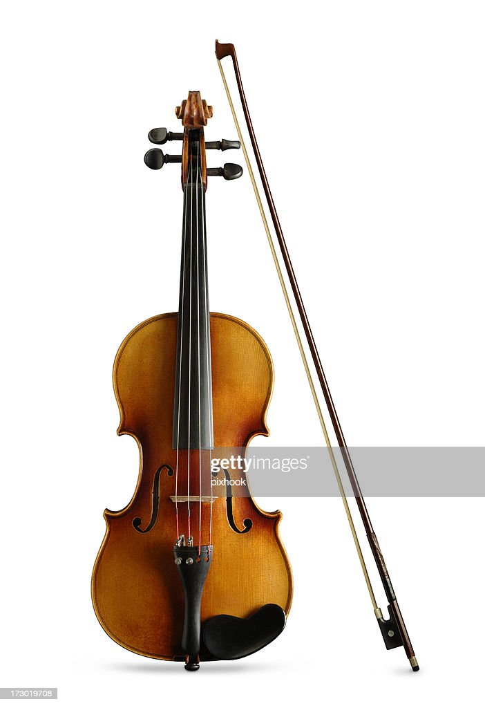Violin and Bow with Paths