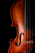 Low key image showing part of violin