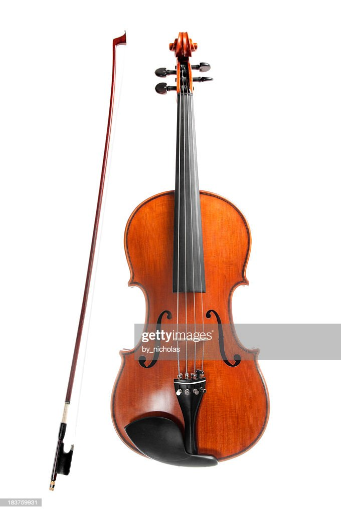 Violin, isolated on white