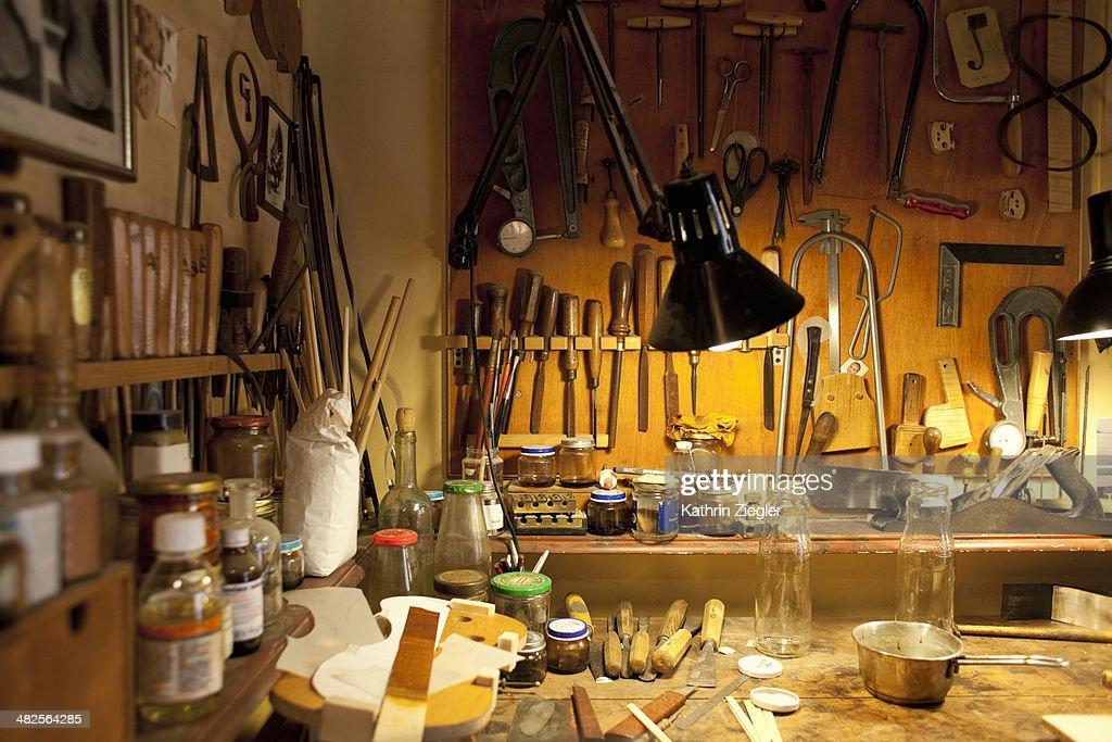violin maker's workshop