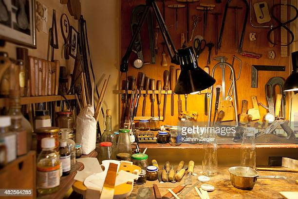 violin maker's workshop