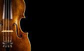 close up of a violin