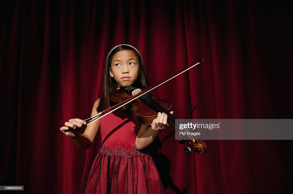 Violin Recital : Stock Photo