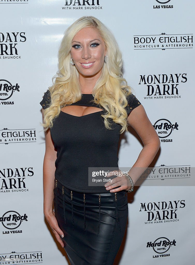 Violinist Adrianna Thurber of Bella Electric Strings arrives at 'Mondays Dark With Mark Shunock' benefiting the Miracle League of Las Vegas featuring music from movie soundtracks at the Body English nightclub inside the Hard Rock Hotel & Casino on April 21, 2014 in Las Vegas, Nevada.