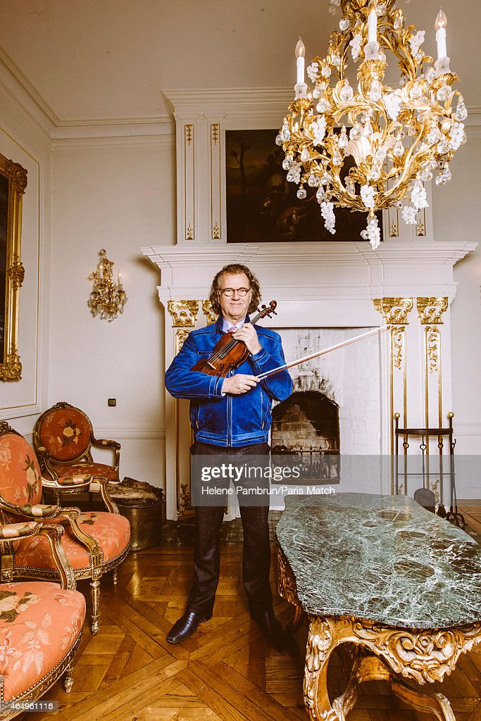 Violinist <a gi-track='captionPersonalityLinkClicked' href=/galleries/search?phrase=Andre+Rieu&family=editorial&specificpeople=1016048 ng-click='$event.stopPropagation()'>Andre Rieu</a> is photographed for Paris Match on January 27, 2015 in Maastricht, Netherlands.