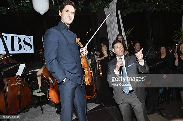 Violinist Charlie Siem and Publisher Watch Magazine Michael Rizzi speak during The Daily Front Row's celebration of the 10th Anniversary of CBS Watch...