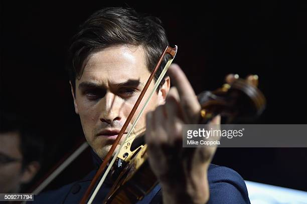 Violinist Charlie Siem performs during The Daily Front Row's celebration of the 10th Anniversary of CBS Watch Magazine at the Gramercy Terrace at The...