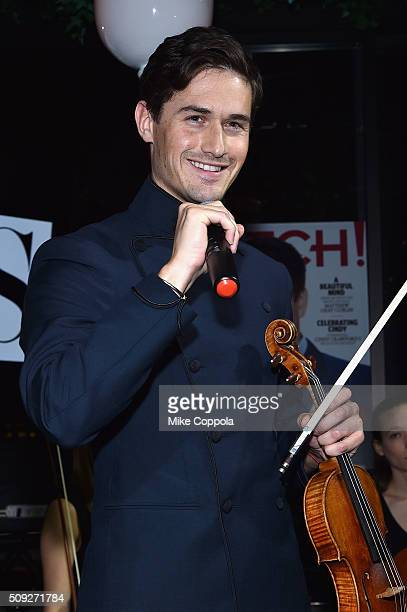 Violinist Charlie Siem speaks during The Daily Front Row's celebration of the 10th Anniversary of CBS Watch Magazine at the Gramercy Terrace at The...