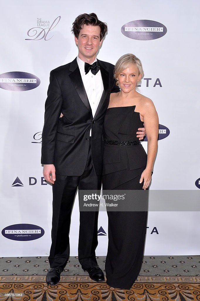 Violinist Christian Hebel (L) and Actress <a gi-track='captionPersonalityLinkClicked' href=/galleries/search?phrase=Rachael+Harris&family=editorial&specificpeople=240713 ng-click='$event.stopPropagation()'>Rachael Harris</a> attend The Drama League's 30th Annual Musical Celebration of Broadway honoring Neil Patrick Harris at The Pierre Hotel on February 3, 2014 in New York City.