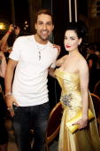 APPLY Violinist David Garrett and Dita Von Teese pose backstage during the 18th Life Ball at Town Hall on July 17 2010 in Vienna Austria The Life...