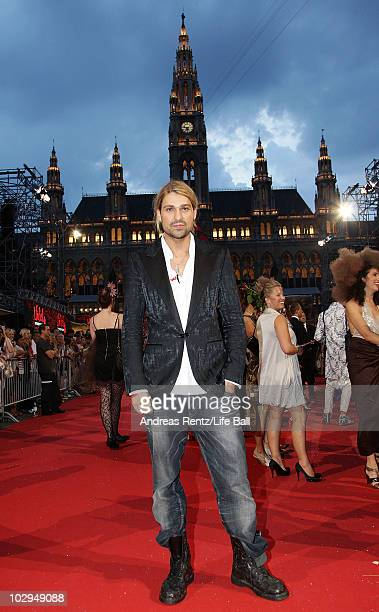 Violinist David Garrett attends the 18th Life Ball at the Town Hall on July 17 2010 in Vienna Austria The Life Ball is an annual charity ball raising...