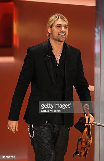 Violinist David Garrett attends the 'Wetten dass' show at the Volkswagenhalle on November 7 2009 in Braunschweig Germany