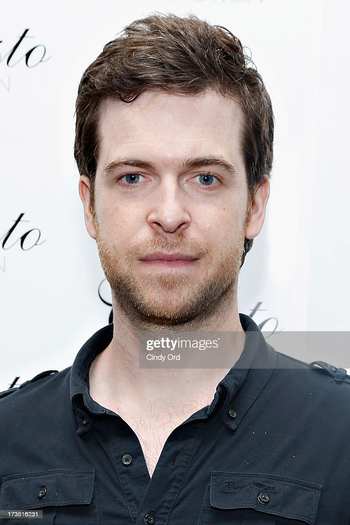 Violinist Gregory Harrington attends the Christo Men NYC Press Preview at Christo Fifth Ave on July 15, 2013 in New York City.