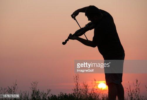 Violinist in Outdoor Concert